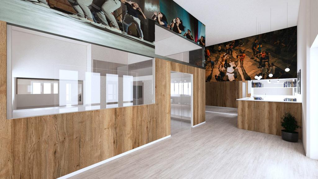 Questa foto rappresenta una sala della scuola Urban Studios ad Ancona